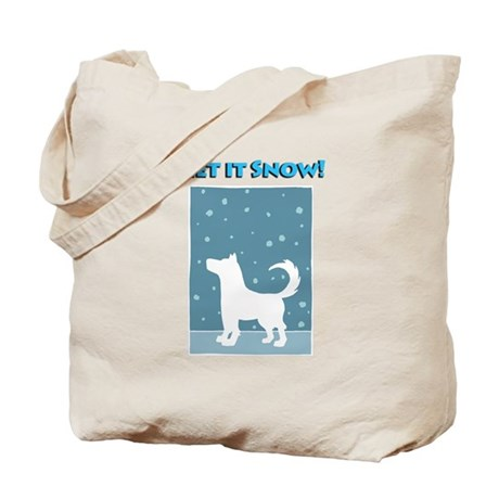 Let It Snow Dog Tote Bag