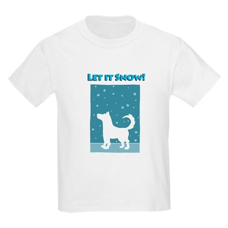 Let It Snow Dog Kids Light T-Shirt