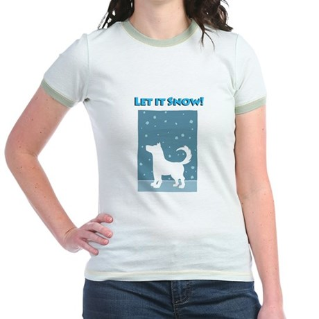 Let It Snow Dog Jr. Ringer T-Shirt