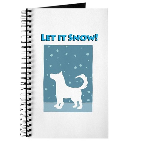 Let It Snow Dog Journal