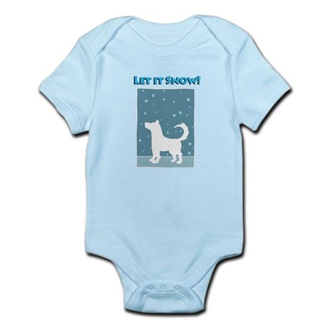 Let It Snow Dog Infant Bodysuit