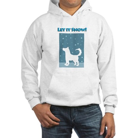 Let It Snow Dog Hooded Sweatshirt