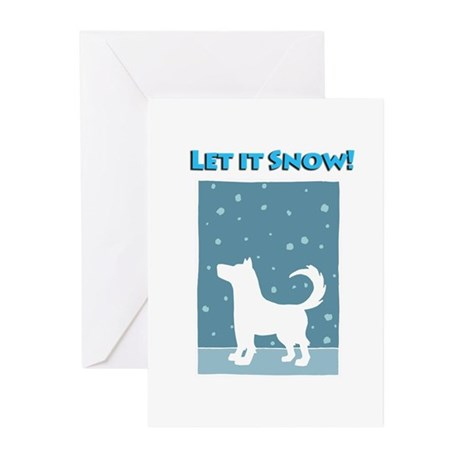 Let It Snow Dog Greeting Cards (Pk of 10)