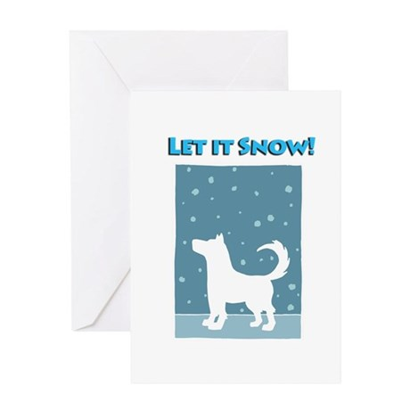 Let It Snow Dog Greeting Card