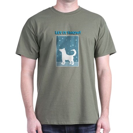 Let It Snow Dog Dark T-Shirt