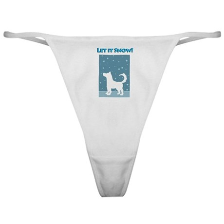 Let It Snow Dog Classic Thong