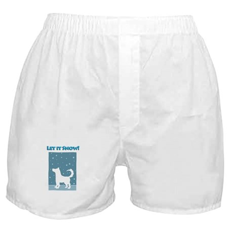 Let It Snow Dog Boxer Shorts