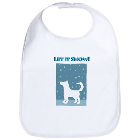 Let It Snow Dog Bib