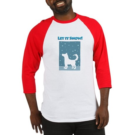Let It Snow Dog Baseball Jersey