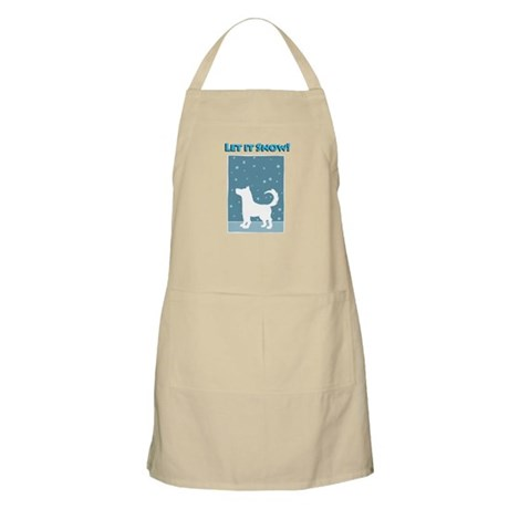 Let It Snow Dog BBQ Apron