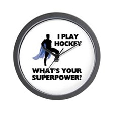 Hockey Superpower Wall Clock