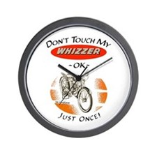 Don't Touch My Whizzer Wall Clock