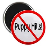 "No Puppy Mills 2.25"" Magnet (10 pack)"
