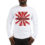 red vintage Tajikistan Long Sleeve T-Shirt