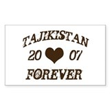 Tajikistan forever Rectangle Decal