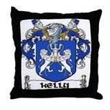 Kelly Coat of Arms Throw Pillow