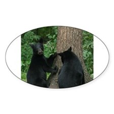 black bears Oval Decal