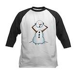 Evil snowman Baseball Jersey