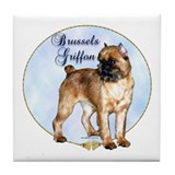 Brussels Portrait Tile Coaster