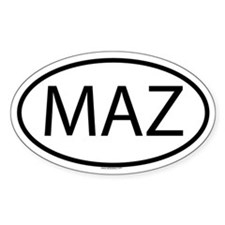 MAZ Oval Decal
