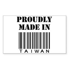made in Taiwan Rectangle Decal