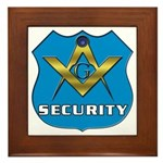 Masonic Security Guard Framed Tile