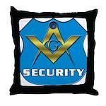 Masonic Security Guard Throw Pillow