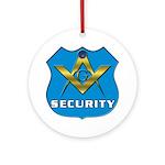 Masonic Security Guard Ornament (Round)