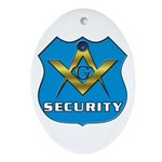 Masonic Security Guard Oval Ornament
