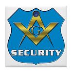 Masonic Security Guard Tile Coaster