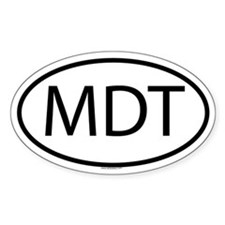 MDT Oval Decal