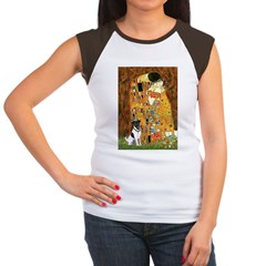 Kiss / Fox Terrier Women's Cap Sleeve T-Shirt