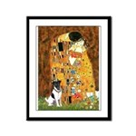Kiss / Fox Terrier Framed Panel Print