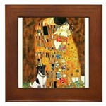 Kiss / Fox Terrier Framed Tile