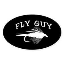FLY GUY - OVAL STICKER