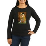 Kiss / Fox Terrier Women's Long Sleeve Dark T-Shir