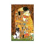 Kiss / Fox Terrier Sticker (Rectangle)