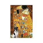 Kiss / Fox Terrier Rectangle Magnet (10 pack)