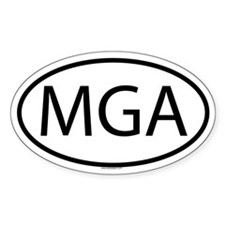 MGA Oval Decal