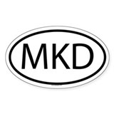MKD Oval Decal