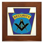 Masonic security guard - Keystone Framed Tile