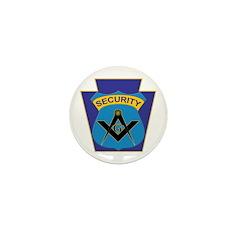 Masonic security guard - Keystone Mini Button