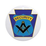 Masonic security guard - Keystone Ornament (Round)