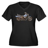 1980 FXWG Shovelhead Women's Plus Size V-Neck Dark