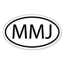MMJ Oval Decal