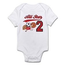 AllStar Sports 2nd Birthday Infant Bodysuit
