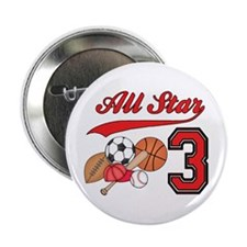"AllStar Sports 3rd Birthday 2.25"" Button (10 pack)"