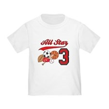 AllStar Sports 3rd Birthday T
