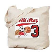 AllStar Sports 3rd Birthday Tote Bag