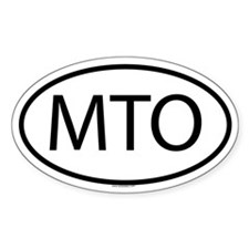 MTO Oval Decal